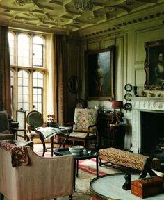 Mapperton House, Dorset, England, rebuilt 1660s.