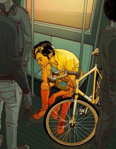 bike, train, vagon