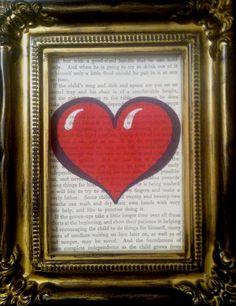Love Heart Valentines Book Print Art by HandmadeForYouByUs on Etsy, $2.00