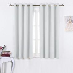 Different specifications  of magnetic curtain rods nicetown greyish white room darkening curtain panels - window treatment thermal insulated dwmjogt - Design Ideas 2019 Kids Curtains, Cool Curtains, White Curtains, Panel Curtains, Curtain Panels, Room Darkening Curtains, Blackout Curtains, Magnetic Curtain Rods, Custom Drapes