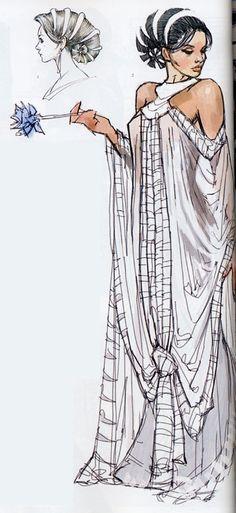 PADME AMIDALA ► #fashion #illustration #sketch #character #design #concept #art #fabric