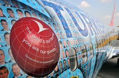Turkish Airline : plane features the portraits of 17,000 employees