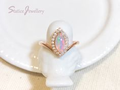 Opal Anniversary Ring Rose Gold Sterling Silver, Marquise Genuine Natural Ethiopian Fire Opal Gemstone Engagement Valentines  Gift For Her by StaticeJewellery on Etsy https://www.etsy.com/listing/265051000/opal-anniversary-ring-rose-gold-sterling