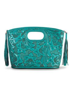 Take a look at this Turquoise Claire Tote by Adam Alexis on #zulily today!