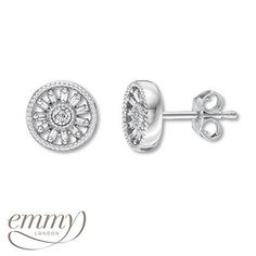 Be unforgettable with these white gold diamond stud earrings from the new Emmy London collection, now available at Kay Jewelers!