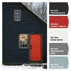 chip it - pretty exterior colors... could possibly replace black with a navy?