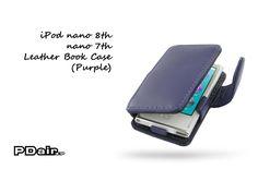 PDair iPod nano 8th / nano 7th Leather Book Case (Purple)