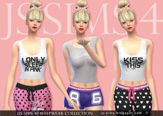 Sleepwear collection at JS Sims 4 • Sims 4 Updates