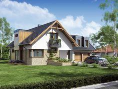 Projekt domu DA Archimedes 2 - DOM DS2-04 - gotowy projekt domu Home Fashion, Cabin, House Styles, Villas, Home Decor, Decoration Home, Room Decor, Cabins, Villa