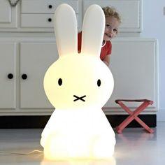 Mr Maria Extra Large White Miffy Lamp  | AlexandAlexa