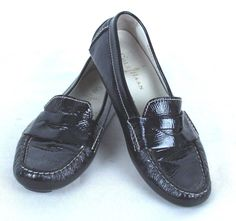 COLE HAAN Black Patent Leather Penny Loafer Flats Size 6B  #ColeHaan #Flats #any