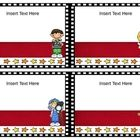 Hollywood movie themed labels for book boxes that you edit yourself. Book Box Labels, Book Boxes, Hollywood Theme Classroom, Classroom Themes, Supply Labels, Lights Camera Action, Movie Themes, Teacher Pay Teachers, Rage