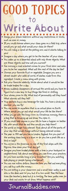 Good Topics to Write About! Sometimes the hardest part of writing is to get started. This is where good topics to write about can be super handy. Journal Topics, Journal Writing Prompts, Essay Writing, Writing A Book, Writing Tips, Essay Prompts, Writing Workshop, Writing Process, Teaching Writing