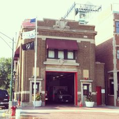 Firehouse next to Wrigley Field - Chicago, IL Chicago Nfl, Wrigley Field Chicago, Baseball Park, Cubs Baseball, Cubs Win, Go Cubs Go, City Slickers, My Kind Of Town, Sweet Home