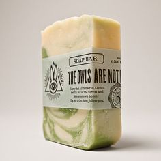 """Arcane Bunny Society branding/packaging {""""The Owls Are Not What They Seem"""" cold process soap}"""