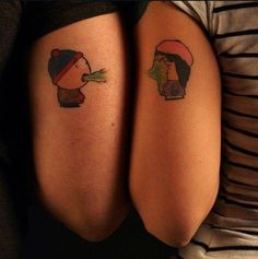 His and hers tattoos, South Park style. So romantic <3