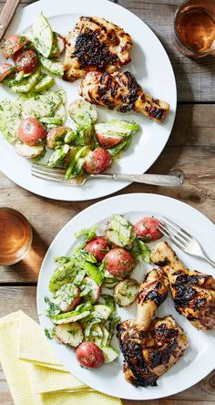 Do you know the best way to apply sauces while grilling? Apply them during later in the grilling process for the perfect glaze – too early, and they'll burn. Get this recipe for Honey Mustard Chicken and other delicious meals from Martha & Marley Spoon, our new meal-kit delivery service!