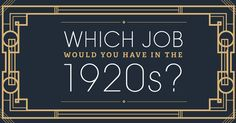 This Great Gatsby-esque infographic shows you what your job would have been in the 1920s | Freepik Blog #graphicdesign