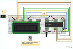 Circuit Model for Rotary Encoder interfacing with PIC Microcontroller Pic Microcontroller, Arduino Projects, Rotary, Circuit, Raspberry, Tutorials, Learning, Model