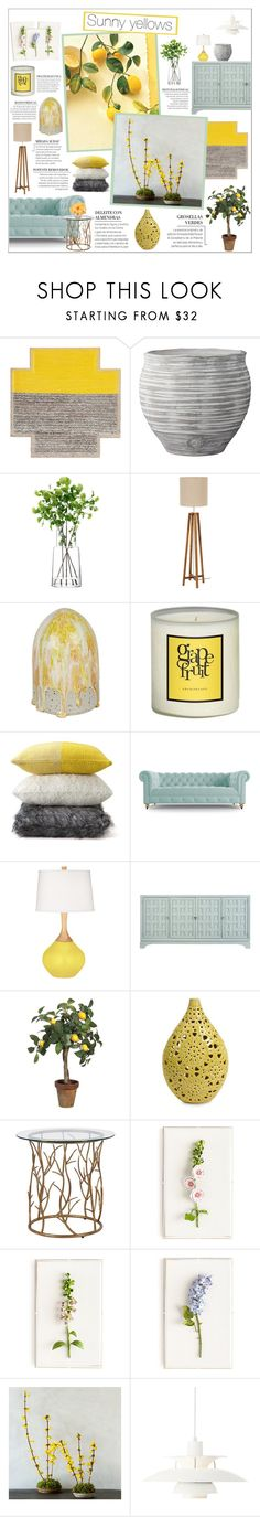 """""""Sunny yellows"""" by honey-beans-xo ❤ liked on Polyvore featuring interior, interiors, interior design, home, home decor, interior decorating, Gandía Blasco, Lene Bjerre, LSA International and Archipelago"""