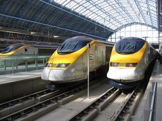The EuroStar, no need to rent a car the train will take you anywhere you want to go!