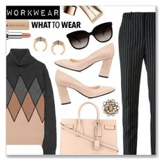 """WorkWear"" by dressedbyrose ❤ liked on Polyvore featuring Givenchy, Prada, Yves Saint Laurent, Bottega Veneta, CA&LOU, Petralux and Nude by Nature"