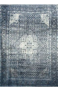 """Amazon.com - Traditional Vintage Inspired Overdyed Distressed Fancy Blue Area Rugs (7' 10"""" X 11' 2"""") -"""