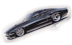 Chip Foose Mustang Sketch... | coches | Pinterest