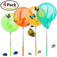 Fishing Accessories Sports & Entertainment Qualified 1pcs Kids Extendable Fishing Net Polyester+stainless Steel Butterfy Bug Insect Net Telescopic Handle Garden Toy Fishing Tackle