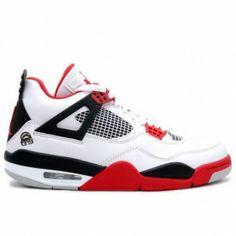 dca64d005f762b 308497-162 Air Jordan 4 Mars White Fire Red Black A04009 Nike Air Jordan 5