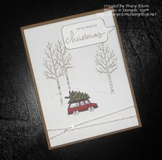 Card designed using the White Christmas photopolymer stamp set from the Stampin' Up! 2014 Holiday Catalogue. http://tracyelsom.stampinup.net