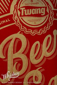 Twang Beer Salt Shipper - Outer Box by Whiskey Design, via Flickr