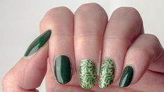 #52weeknailchallenge - week 19: Gold + Green using Cirque Colors Fizz!, OPI Christmas Gone Plaid, MoYou Flower Power 20