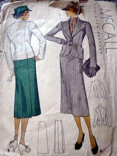 McCall 8710   1936 Misses' Suit