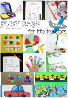 Cool car and airplane approved activities for kids! Printable road trip games for kids can help make family car trips a lot more fun for everyone. This free printable book is perfect to print, cut and punch to put into a mini 3 ring binder. Travel Activities, Craft Activities, Toddler Activities, Toddler Games, Montessori Toddler, Toddler Fun, Holiday Activities, Indoor Activities, Preschool Ideas