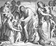 Bilder der Bibel - Jesus ruft die Kindlein zu sich - Julius Schnorr von Carolsfeld
