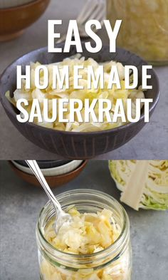 This easy homemade sauerkraut recipe is so healthy and delicious! Learn how to make homemade sauerkraut so you can have this fermented side dish any time. German Sauerkraut Recipe, Homemade Sauerkraut, Sauerkraut Recipes, Cabbage Recipes, Canning Sauerkraut, Fermentation Recipes, Canning Recipes, Cucumber Recipes, Spinach Recipes