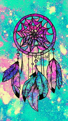 Dreamcatcher galaxy iPhone/Android wallpaper I created for the app CocoPPa.