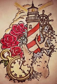 Nice 51 Stunning Lighthouse Tattoo Ideas. More at http://simple2wear.com/2018/03/25/51-stunning-lighthouse-tattoo-ideas/