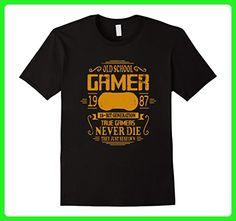 Mens Men's Old School Gamer Tshirt- Birthday Tee Medium Black - Gamer shirts (*Amazon Partner-Link)