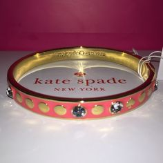 """Kate Spade ♠️ FLAMINGO """"Spot The Spade"""" Bracelet ✨  SUMMER COLLECTION Kate Spade ♠️ FLAMINGO """"Spot The Spade"""" Bracelet NWTs • Includes dust bag • smoke & pet free home • 20% donated to the American Cancer Society • IF INTERESTED LET ME KNOW & I WILL MAKE YOU A NEW LISTING AS I HAVE 2 • Thanks & Happy Poshing! ✨ kate spade Jewelry Bracelets"""