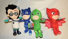 New PJ Masks Plush Toy Stuffed Animal Disney Gekko Catboy Owlette Romeo 4 Piece…