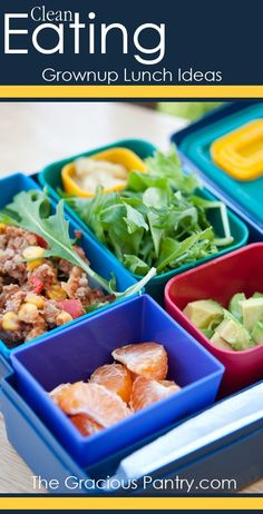 More Grownup Lunch Ideas. Great to take to work!! #CleanEating #Lunch