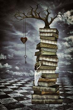 The tree of love, digital art by Mihaela Pater. Book Art, Book Wallpaper, 3d Fantasy, World Of Books, Book Images, Canvas Art Prints, Book Lovers, Fine Art America, America America