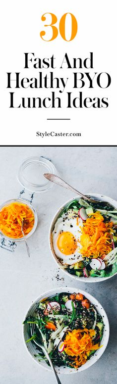 30 Fast & Healthy Lunch Ideas You Can Make Ahead for the Work Week | Easy recipes | Prepare in 30 minutes or less! @stylecaster