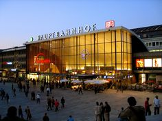 The Cologne main railway station is situated directly opposite the cathedral. Train Journey, Throughout The World, Helsinki, Cologne, Times Square, Cathedral, Germany, London, How To Plan