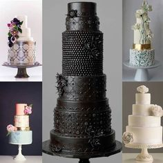 Amazing cakes - look at the black on black one!
