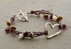 Maybe my daughter would make some kind of focal piece for which I could make a bracelet like this... or maybe she'd just make the whole thing for me?!