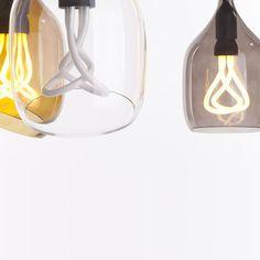 Plumen: Designer Energy-Efficient Lighting: Smoked Grey Vessel 2 Diagonal Cut Lamp Shade