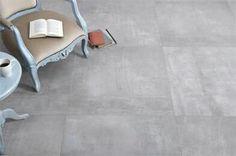 betonlook tegels in een hip interieur betontegels, betonlook tegels, kereamische betonlook tegels, grijze tegels, groot formaat tegels, modern interieur, trendy interieur, scandinavisch interieur, moderne vloertegel